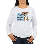 Pathetic Eyes Corgi Women's Long Sleeve T-Shirt