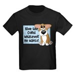 Pathetic Eyes Corgi Kids Dark T-Shirt