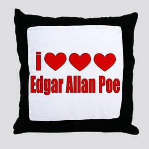 I Heart Poe Throw Pillow