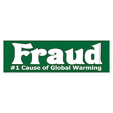 Global Warming Fraud Sticker (Bumper)