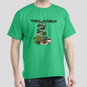Frog Hoppy Holidays Dark T-Shirt