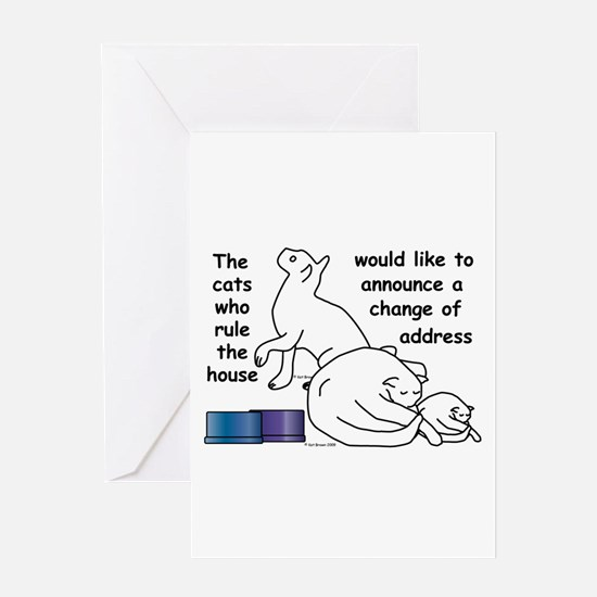 Cute Address change Greeting Card