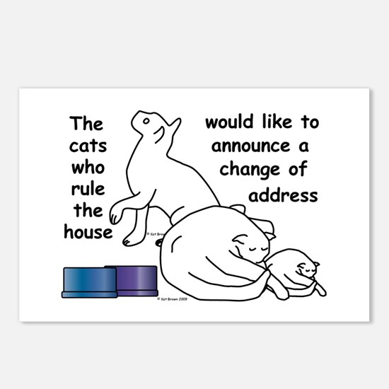 Cute Change address Postcards (Package of 8)