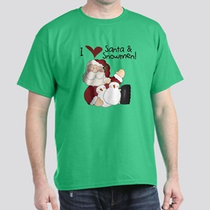 Santa and Snowmen Dark T-Shirt