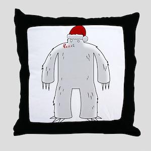 Sasquatchmas Throw Pillow
