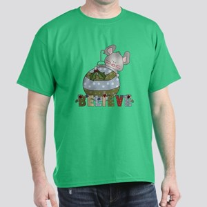 Christmas Mouse Believe Dark T-Shirt