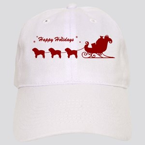 Bulldog Christmas Sleigh Cap