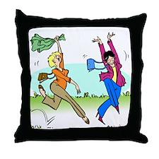 Susan and Maeve Dancing Throw Pillow