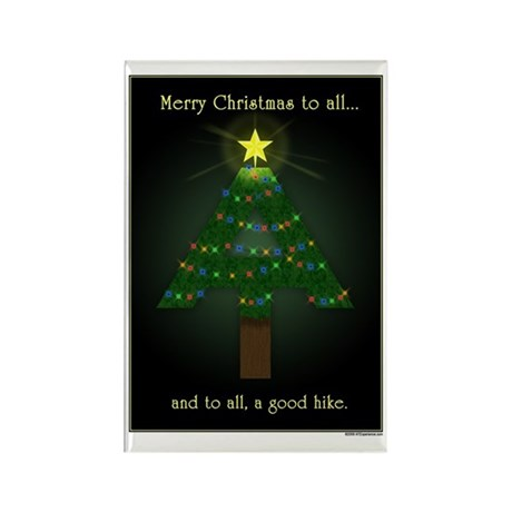 Appalachian Trail Christmas Rectangle Magnet