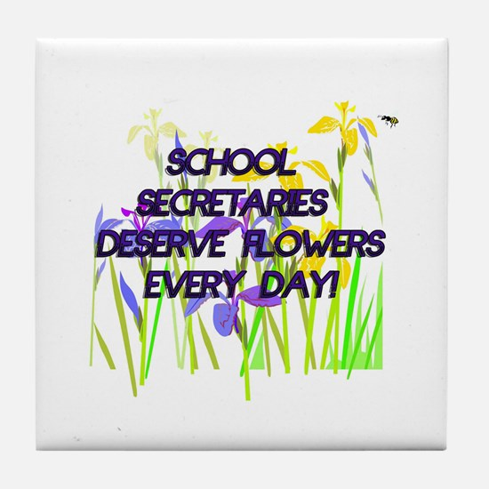 Cute School secretary day Tile Coaster