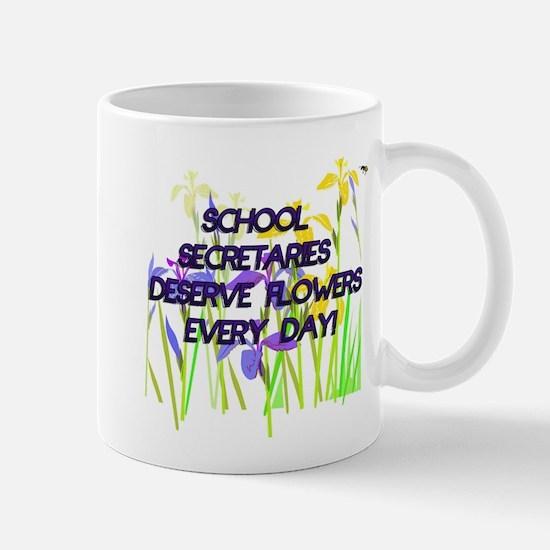 SCHOOL SECRETARIES FLOWERS copy Mugs