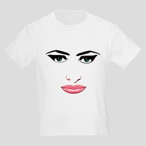 The female face Kids Light T-Shirt