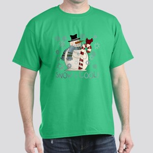 Snow is Cool Snowman Dark T-Shirt