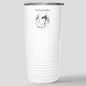 Rough Brussels Griffon Stainless Steel Travel Mug