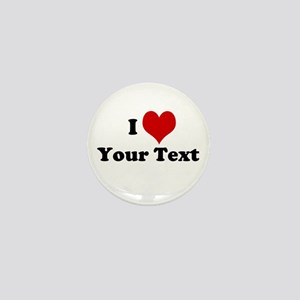 Customized I Love Heart Mini Button