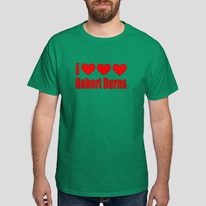 I Heart Burns Dark T-Shirt