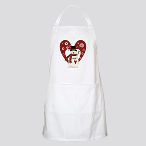 Snowman and Heart Apron