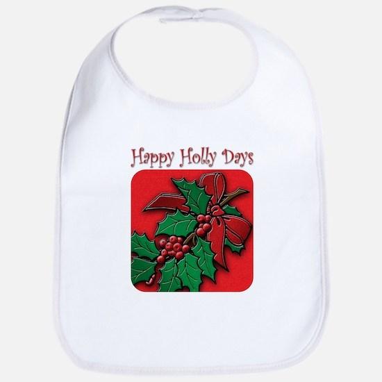 Happy Holly Days Bib