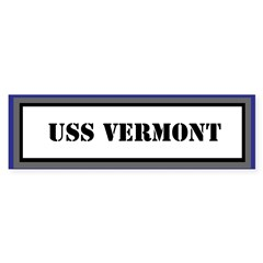 USS Vermont Bumper Bumper Sticker