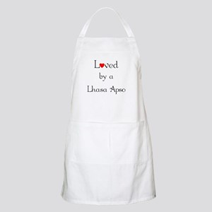 Loved by a Lhasa Apso BBQ Apron
