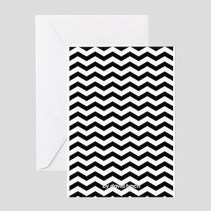 twinpeakspattern_small Greeting Cards