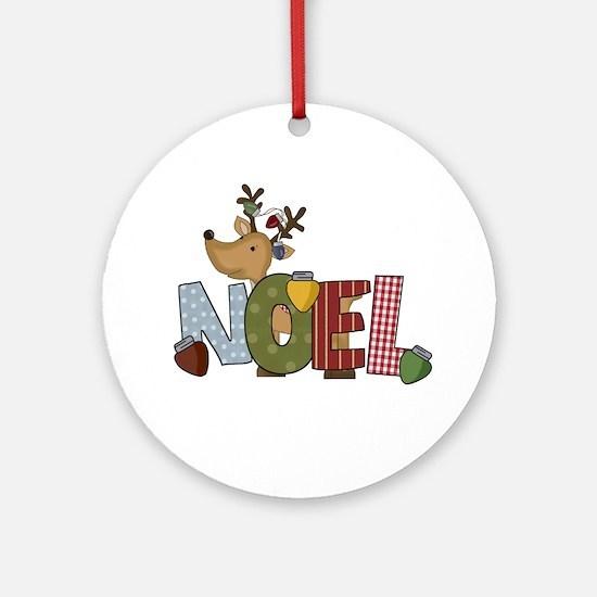 Reindeer Noel Ornament (Round)