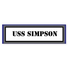 USS Simpson Sticker (Bumper)