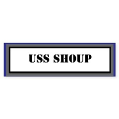 USS Shoup Sticker (Bumper)