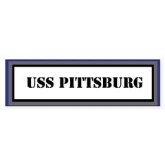 USS Pittsburg Sticker (Bumper)