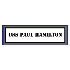 USS Paul Hamilton Sticker (Bumper)