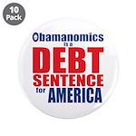 "Obamanomics 3.5"" Button (10 pack)"