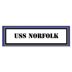 USS Norfolk Sticker (Bumper)