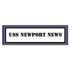 USS Newport News Sticker (Bumper)