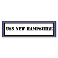 USS New Hampshire Sticker (Bumper)