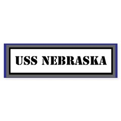 USS Nebraska Sticker (Bumper)