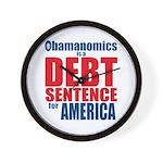 Obamanomics Wall Clock