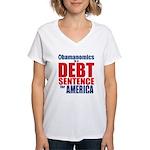 Obamanomics Women's V-Neck T-Shirt