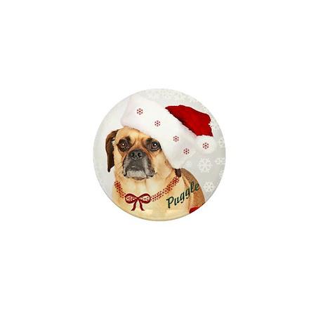 A Puggle Christmas Mini Button (10 pack)