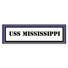 USS Mississippi Sticker (Bumper)