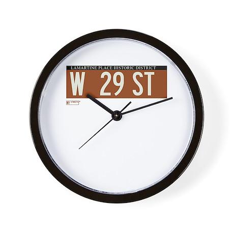 West 29th Street in NY Wall Clock