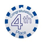 4th Place Ornament (Round)