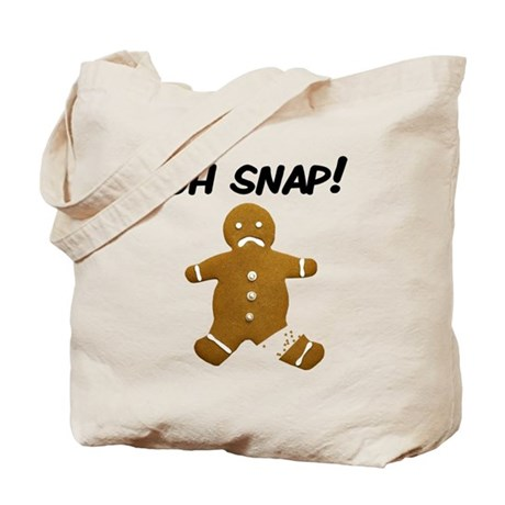 Oh Snap Gingerbread Man Tote Bag