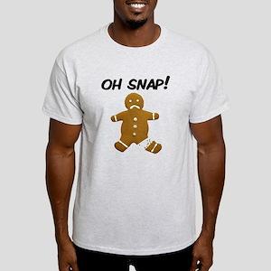 Oh Snap Gingerbread Man Light T-Shirt