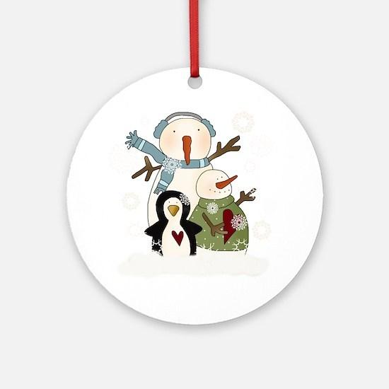 Snow Friends Ornament (Round)