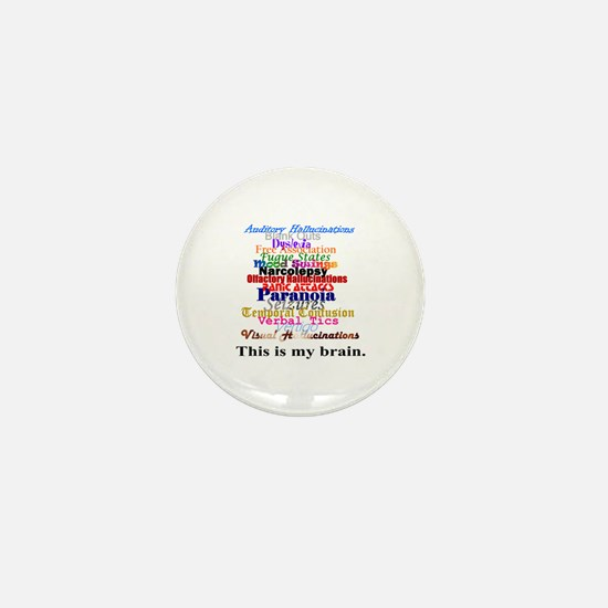 This Is My Brain Mini Button