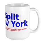 Split New York Large Mug