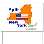 Split New York Yard Sign