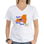Split New York Women's V-Neck T-Shirt