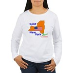 Split New York Women's Long Sleeve T-Shirt