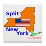 Split New York Tile Coaster